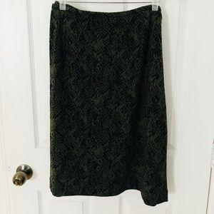 Calvin Klein Green Patterned Skirt